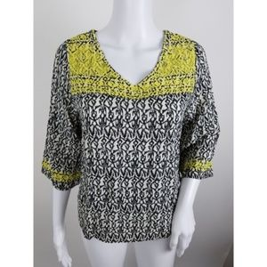 Maeve Anthropologie Embroidered Blouse